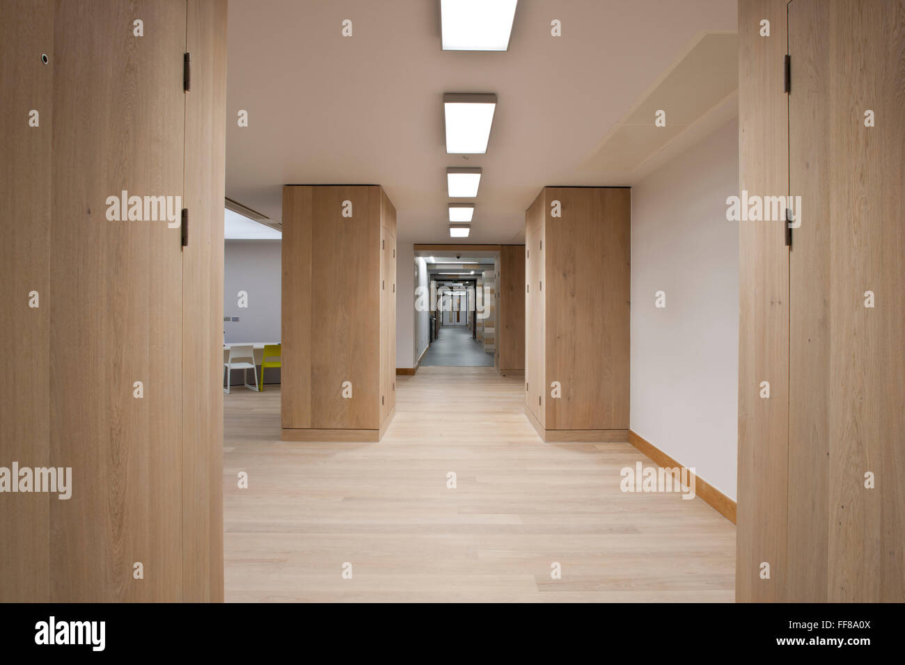 Corridor St Georges Hospital Tooting, London - Stock Image