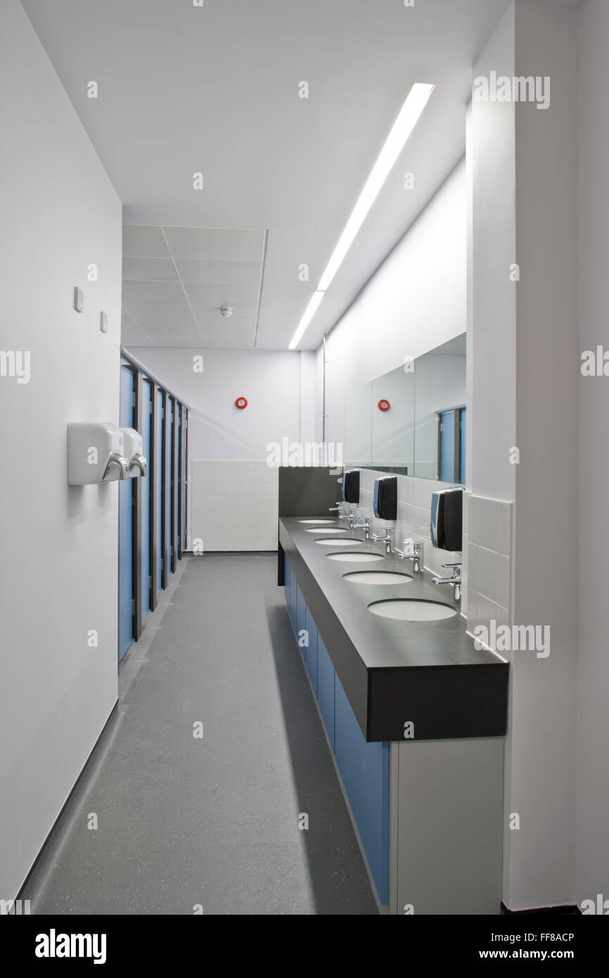 washroom St Georges Hospital Tooting - Stock Image