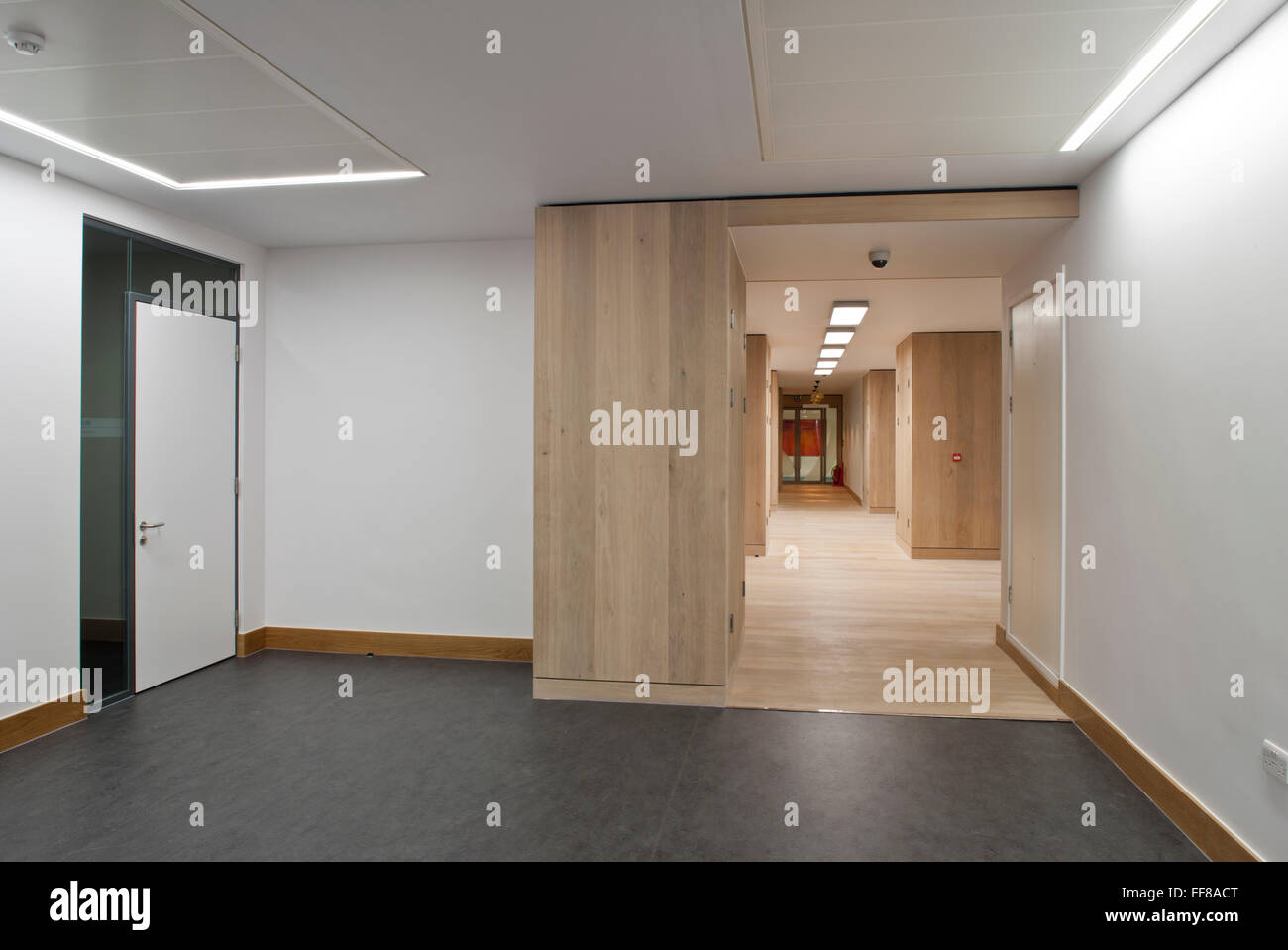 Corridor St Georges Hospital Tooting London - Stock Image