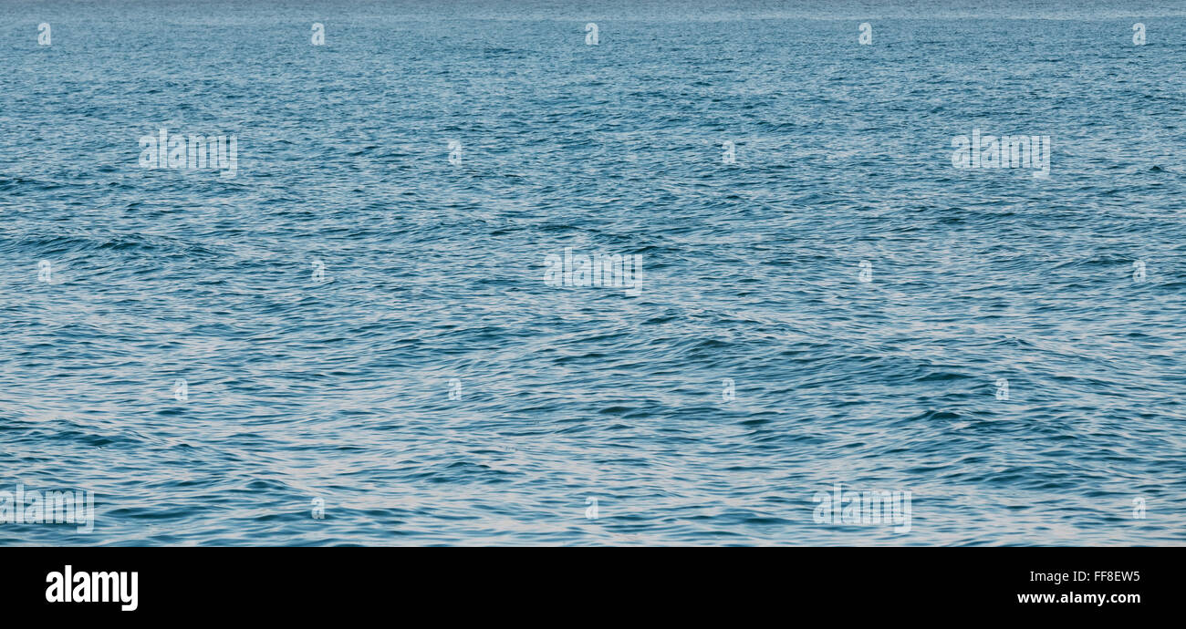 Sea Ocean Blue Ripple Surface Water Background - Stock Image