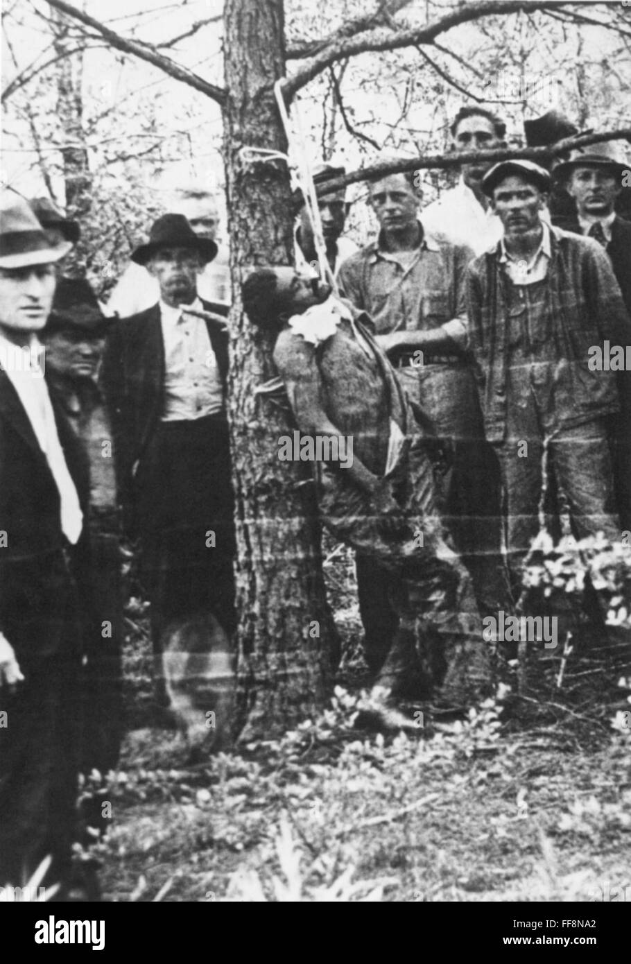 LYNCHING, 1936. /nA lynching in the American South, 1936. Stock Photo