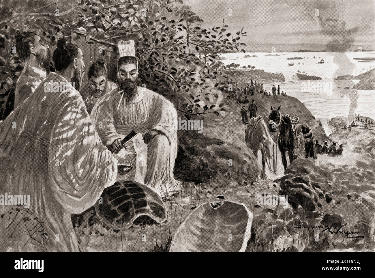 Yu the Great, c. 2200 – 2100 BC.  Legendary ruler in ancient China famed for his introduction of flood control, - Stock Image