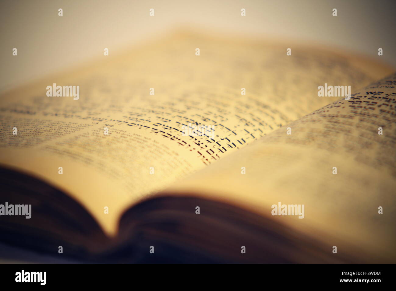 nice old jewish book from 19th centrury from Prague Stock Photo