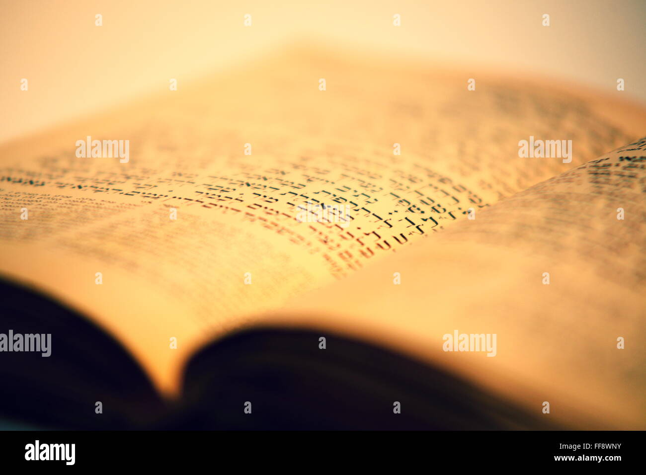 nice old jewish book from 19th centrury from Prague - Stock Image