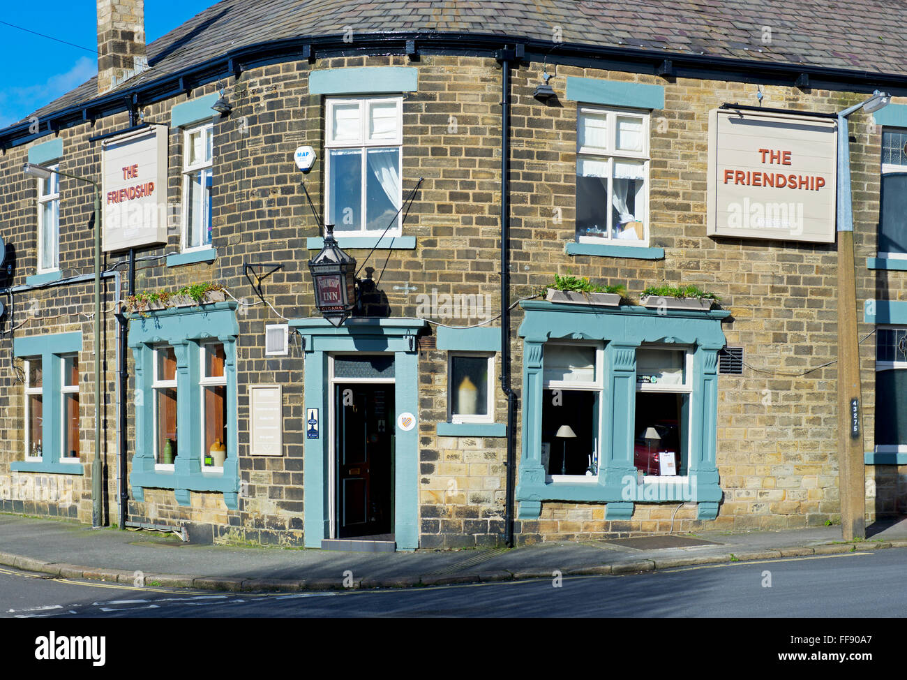The Friendship pub in Glossop, Derbyshire, England UK - Stock Image