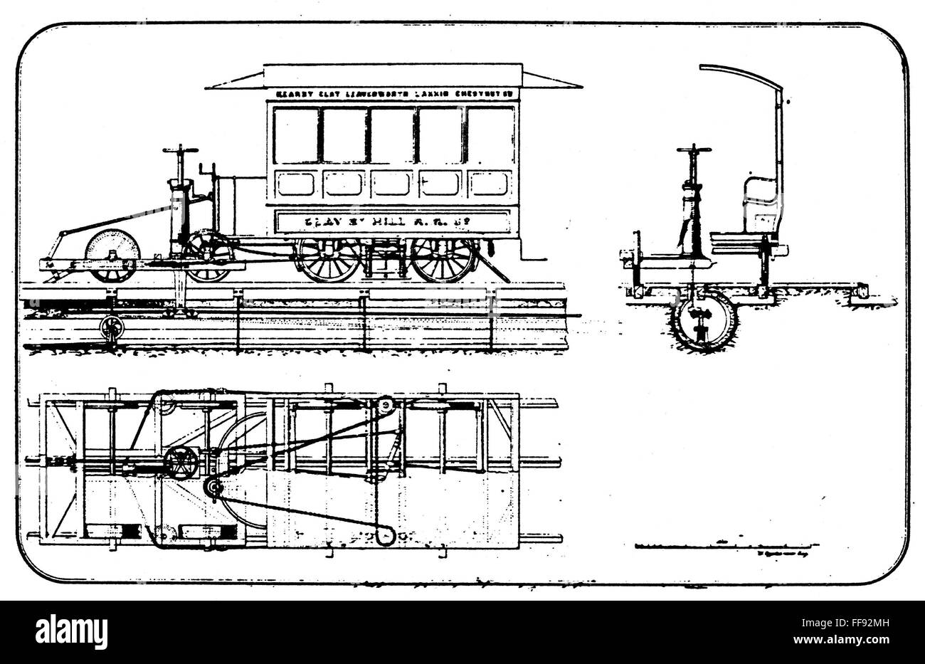 CABLE CAR: PATENT, 1873. /nOriginal patent drawing for Andrew Smith ...
