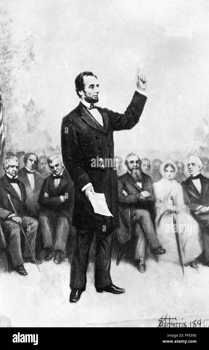 president lincolns speech - 736×1067