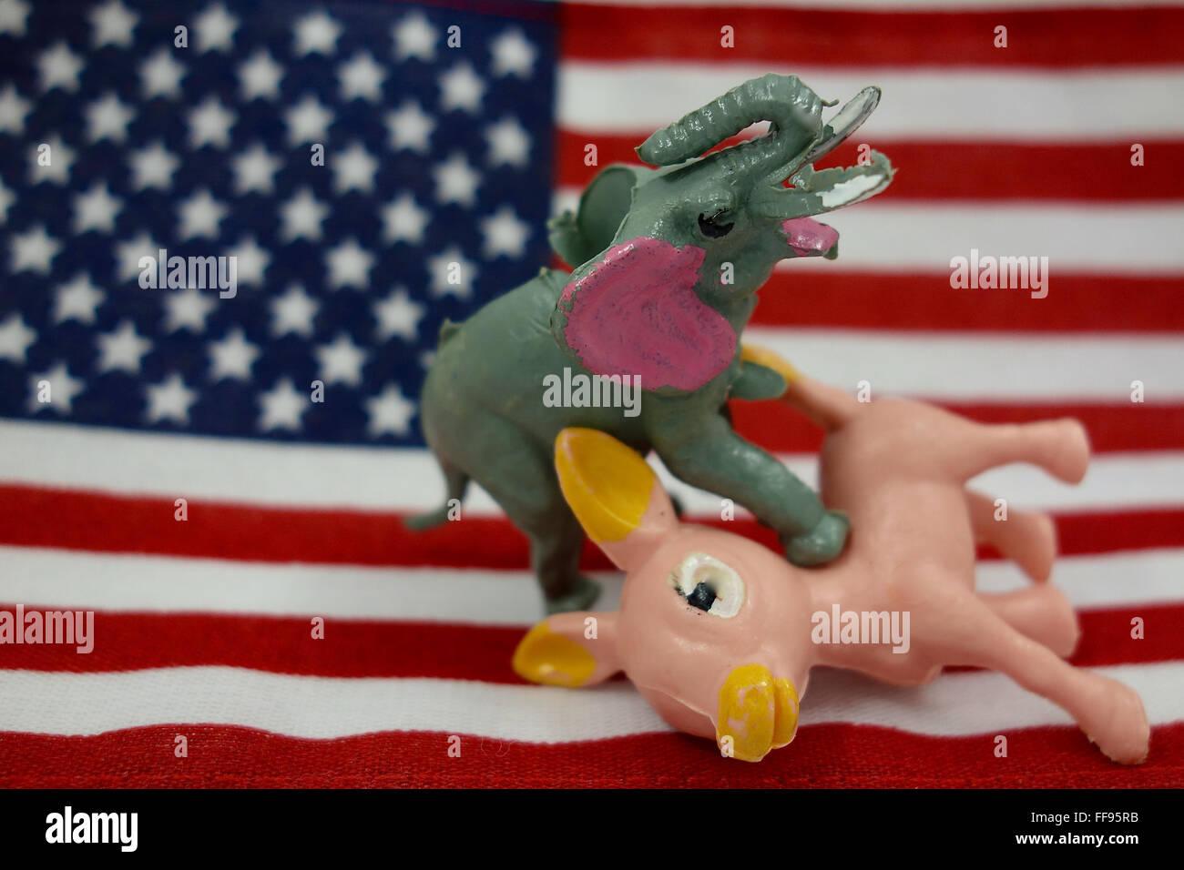 Democrats and Republicans - Stock Image