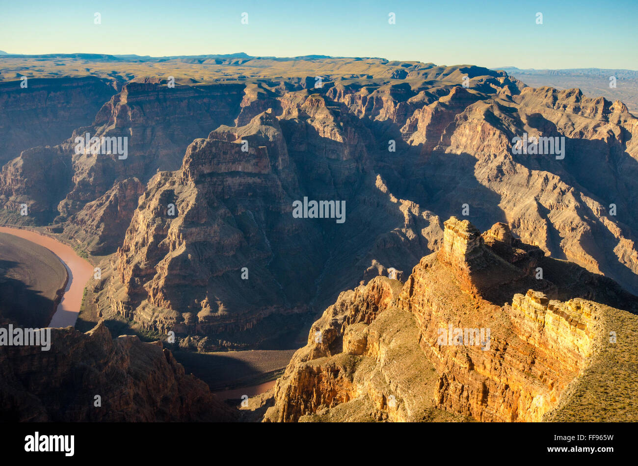 Part of the Grand Canyon, Las Vegas, Nevada. USA United States of America rock formation - Stock Image