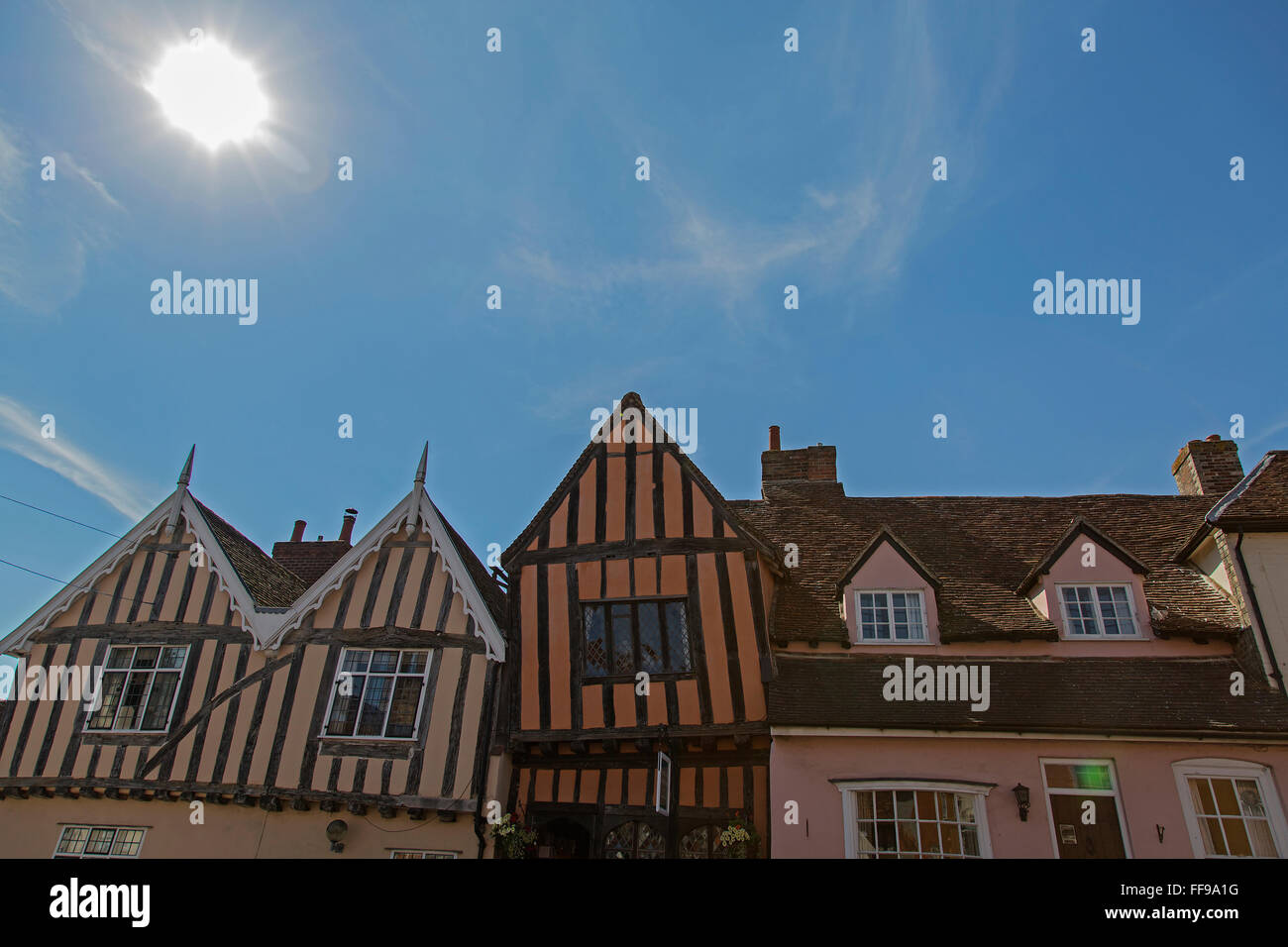 Crooked house in Lavenham - Stock Image