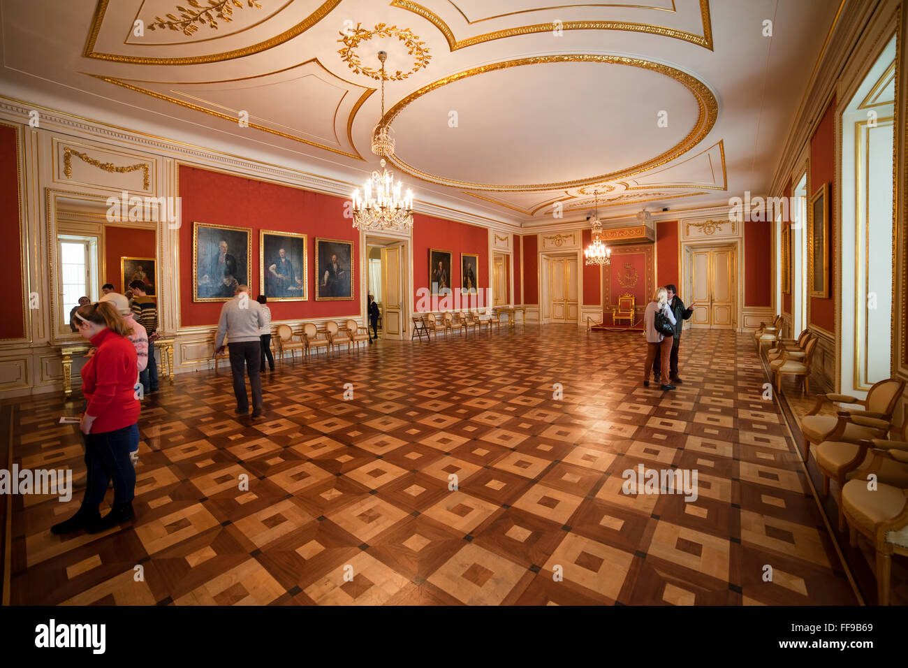 Poland, city of Warsaw, Royal Castle interior, Council Chamber - Stock Image