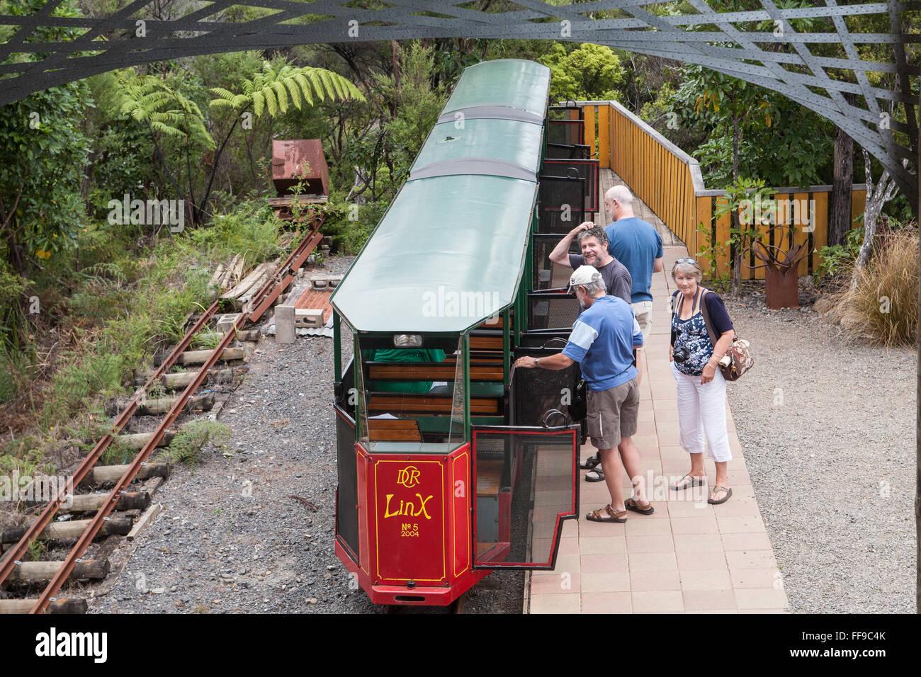 At Driving Creek Railway and Potteries.Near Coromandel Town,Coromandel Peninsula,North Island,New Zealand,NZ, - Stock Image