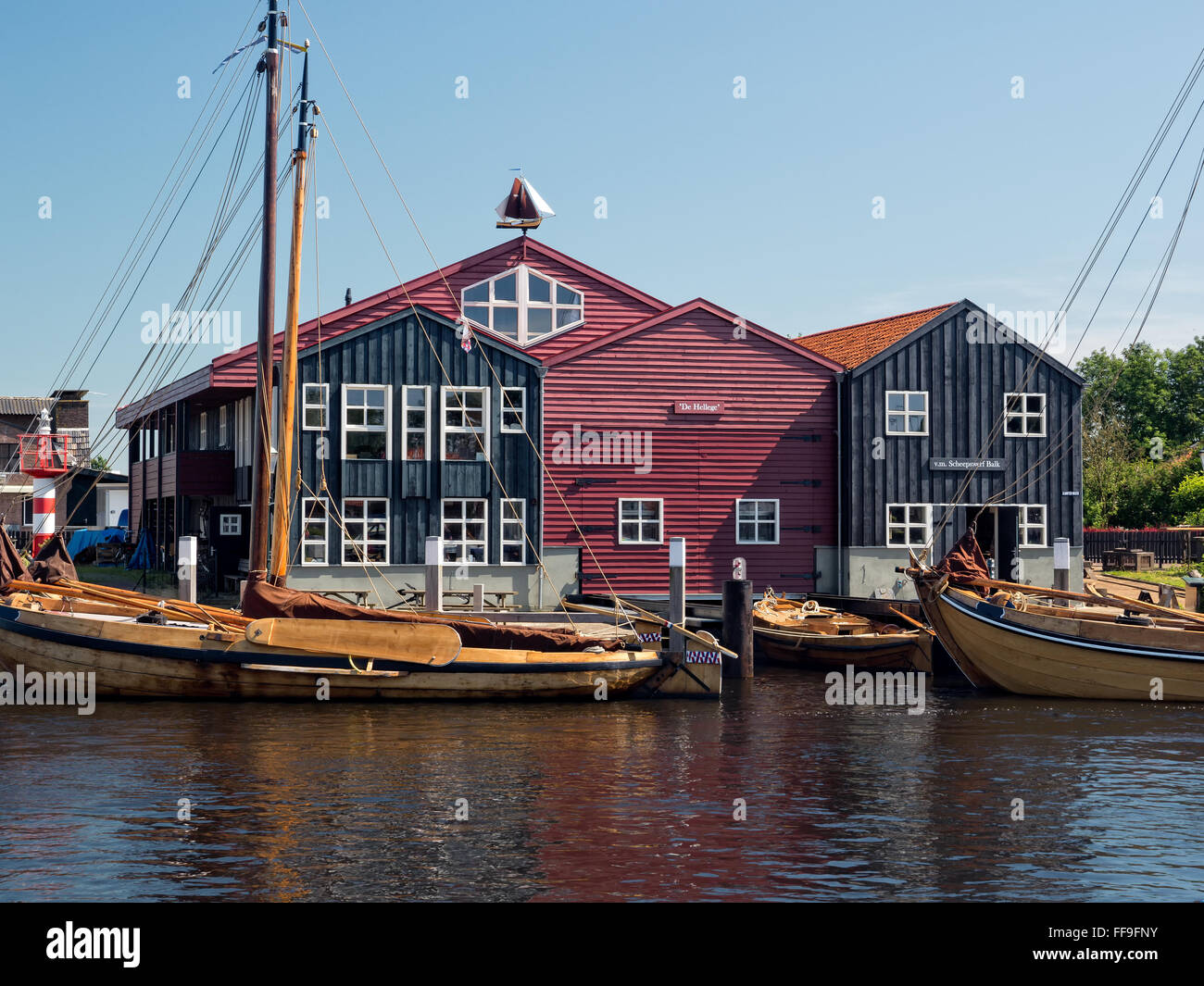 Harbor house in the town of Elburg - Stock Image