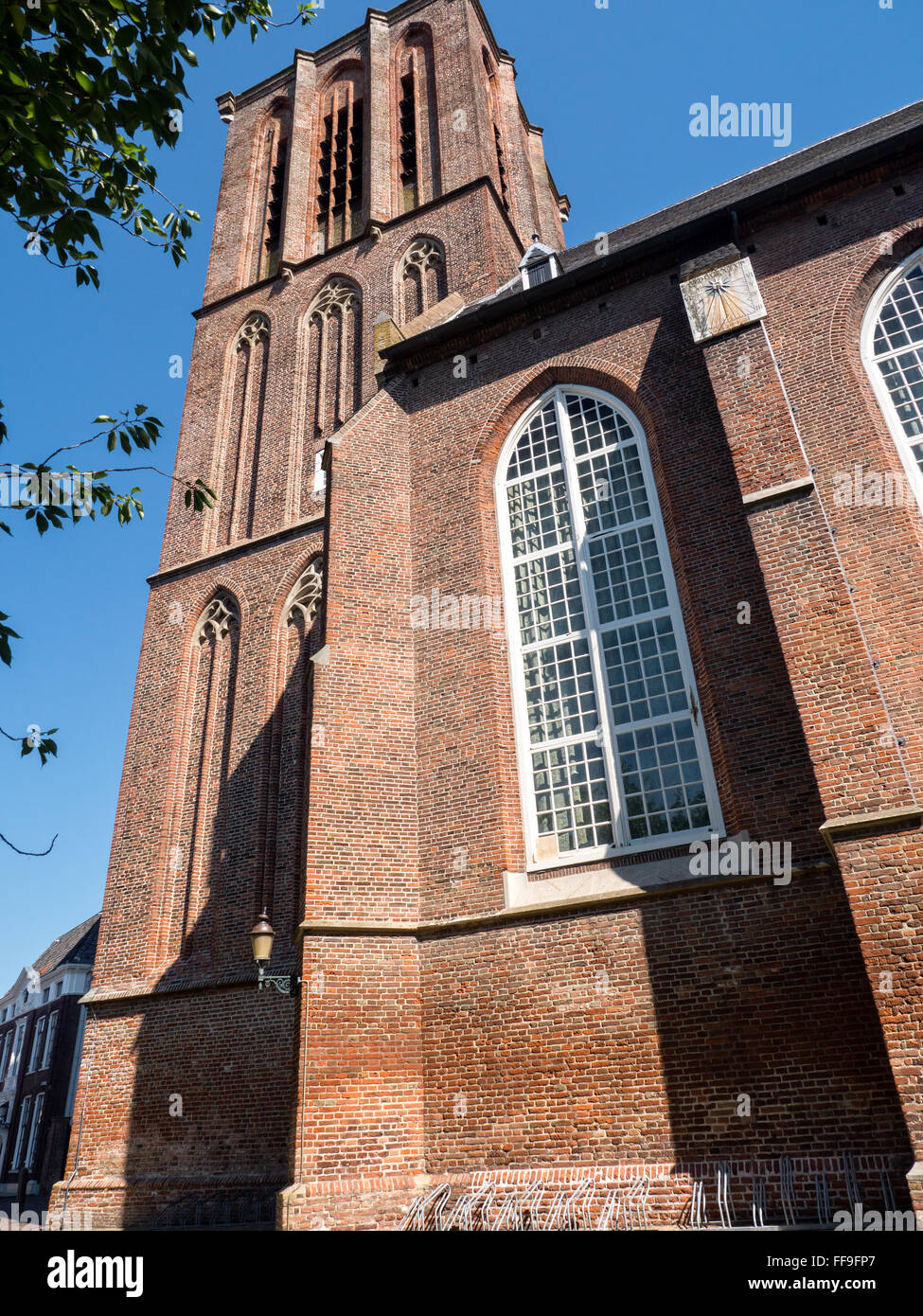 Historic church in the town of Elburg - Stock Image