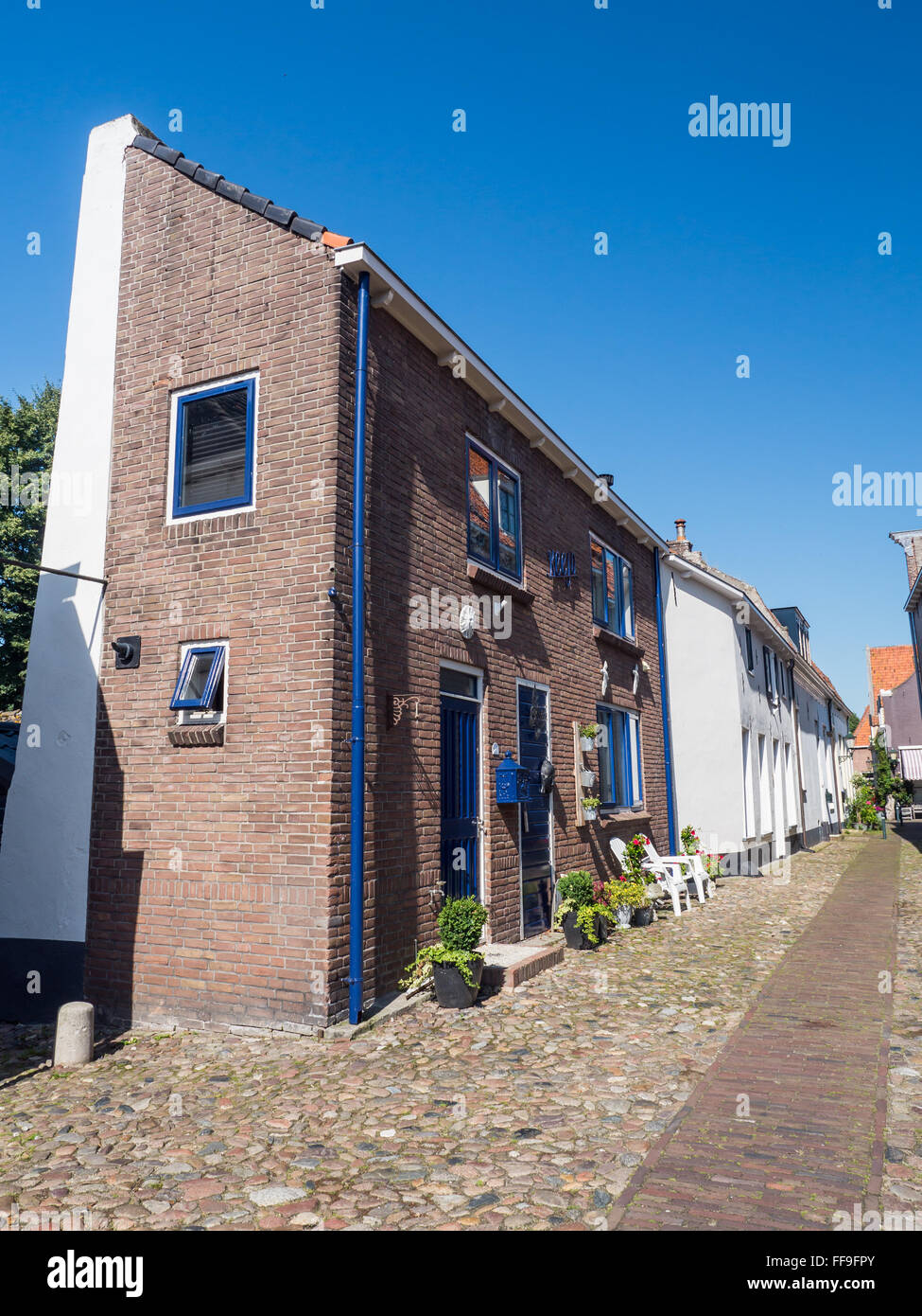 Historic building in the town of Elburg - Stock Image
