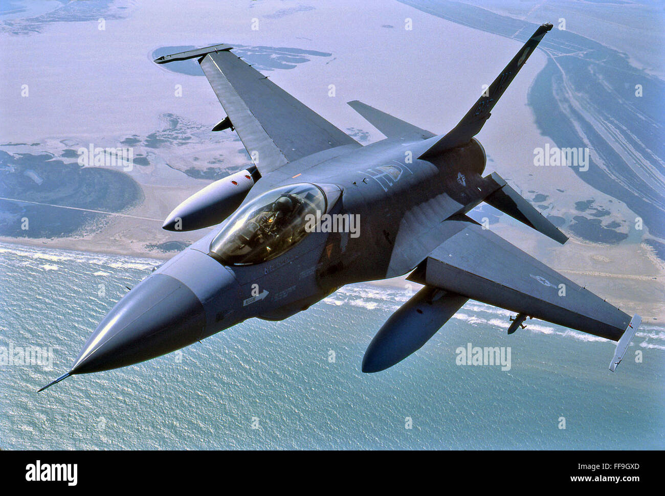 F-16 Fighting Falcon modern fighter aircraft Stock Photo