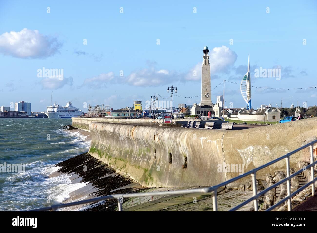 Seafront at Portsmouth Hampshire UK Stock Photo