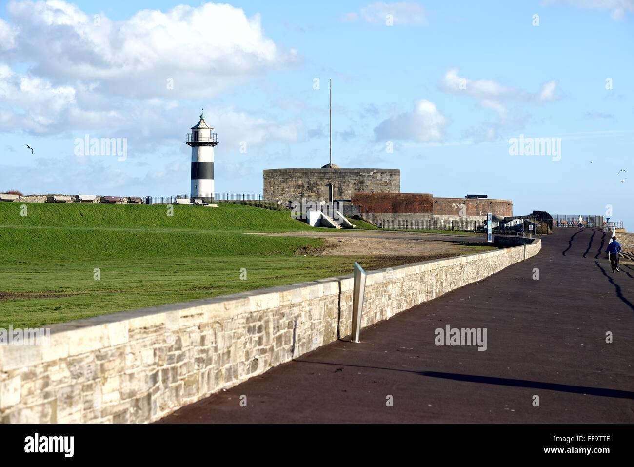 Southsea castle Portsmouth Hampshire UK - Stock Image
