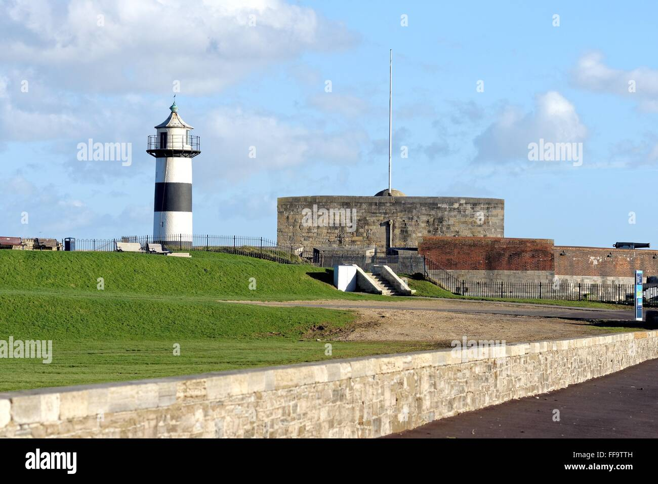 Southsea castle Portsmouth Hampshire UK - Stock Image