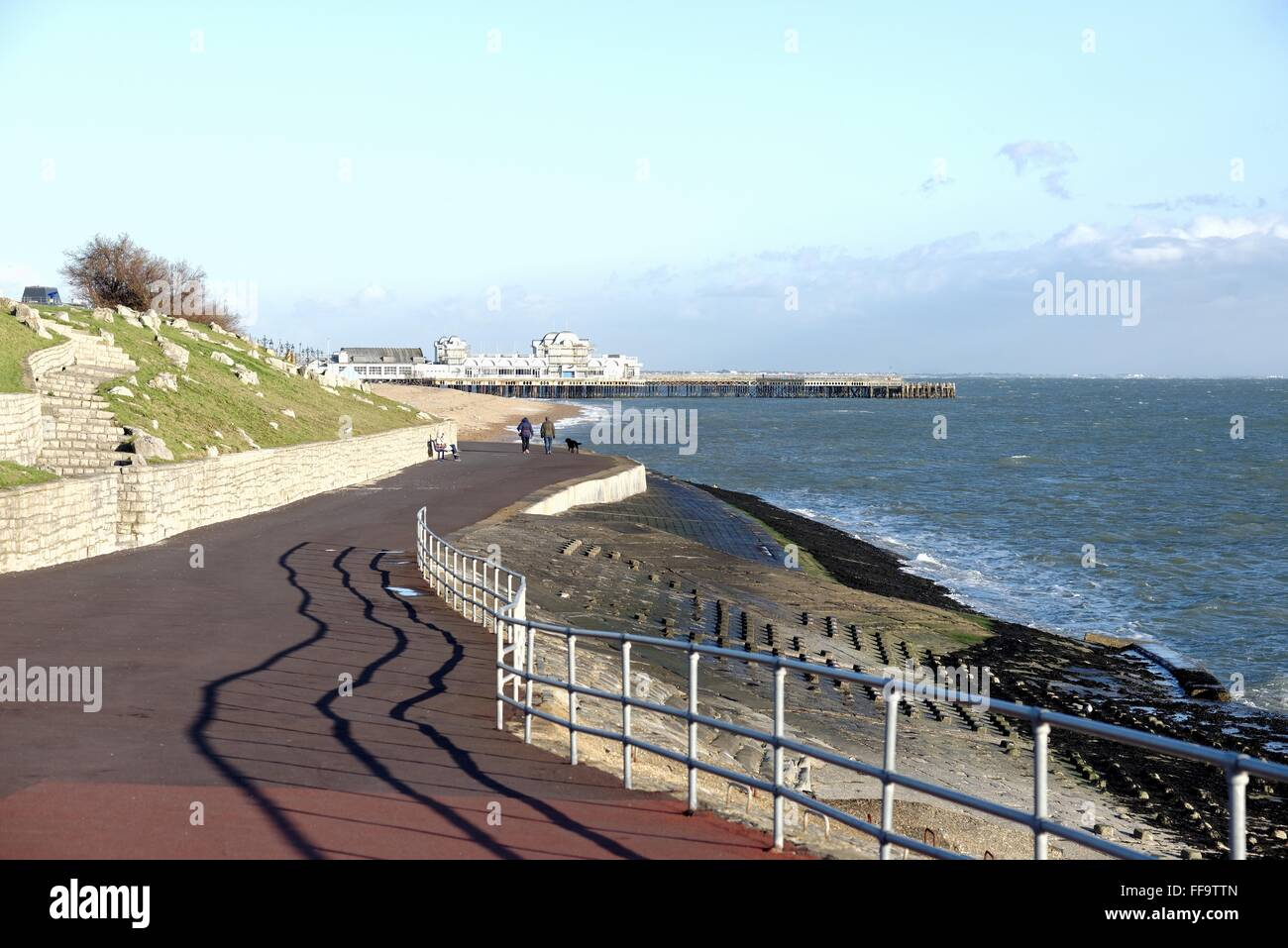 Seafront at Southsea Hampshire Stock Photo