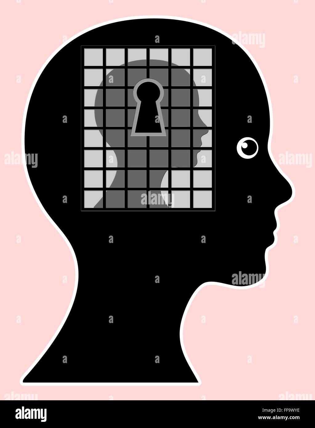 Mind Made Prison - Stock Image
