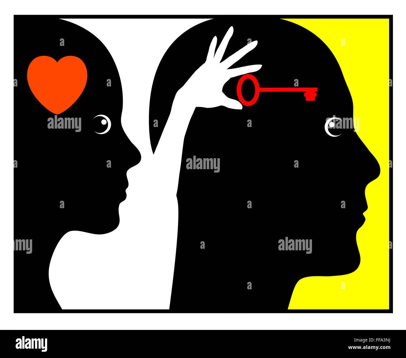 Psychology of Love - Stock Image