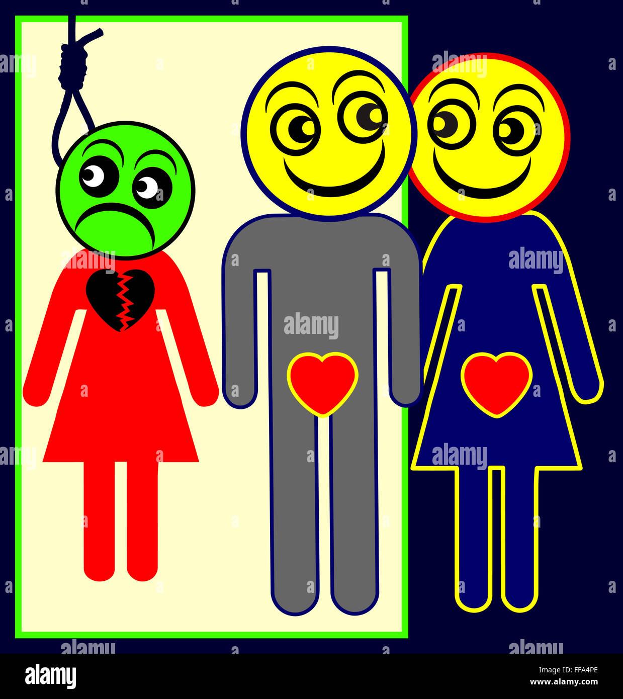 Adulterer - Stock Image