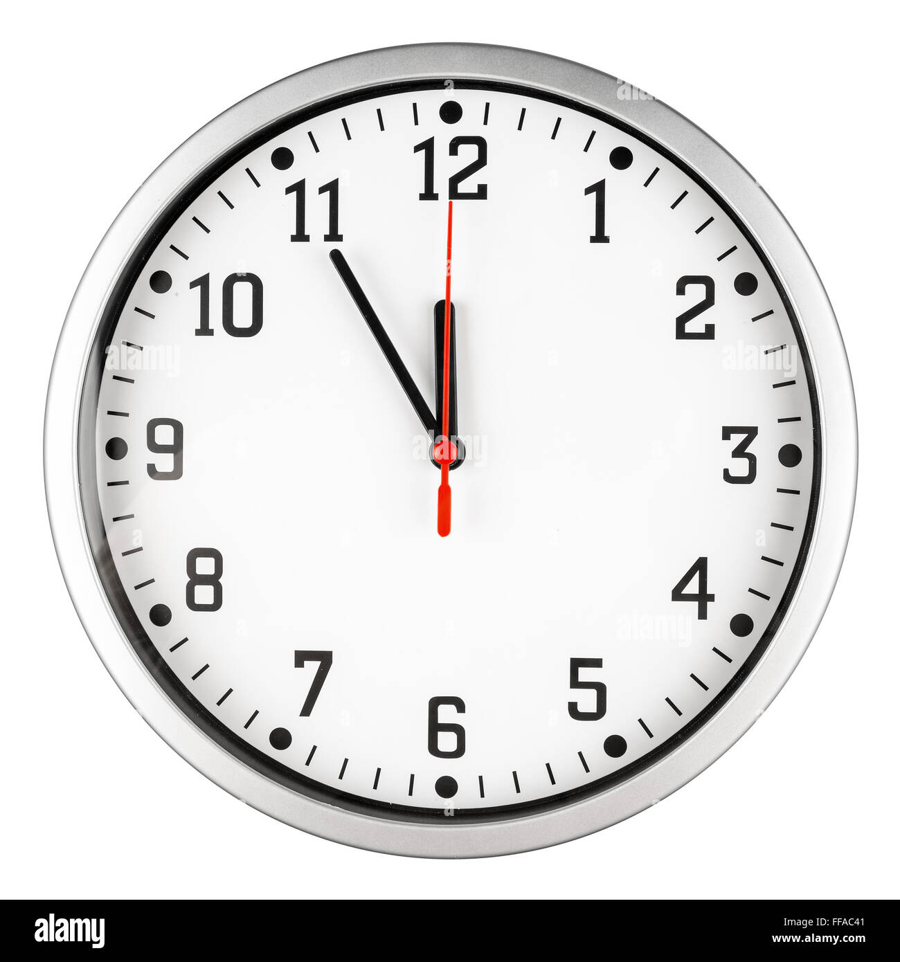 5 to 12 clock concept isolated on white background - Stock Image