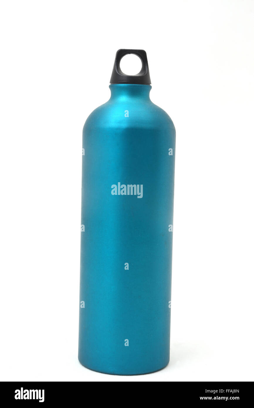 One Litre Water Bottle Made Of Aluminium - Stock Image