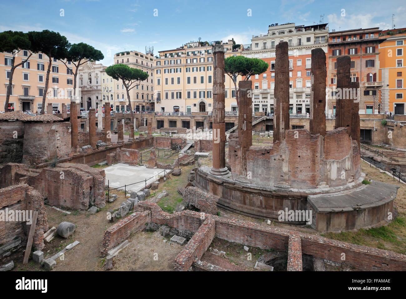 Largo di Torre Argentina in Rome, Italy - Stock Image