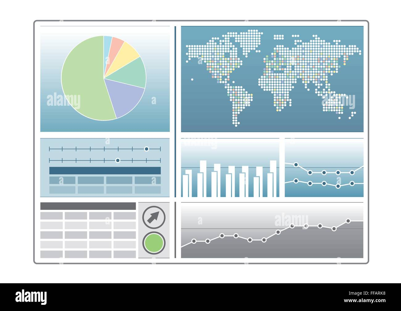 Analytics Dashboard Template With Pie Chart World Map Line Chart - Analytics dashboard template
