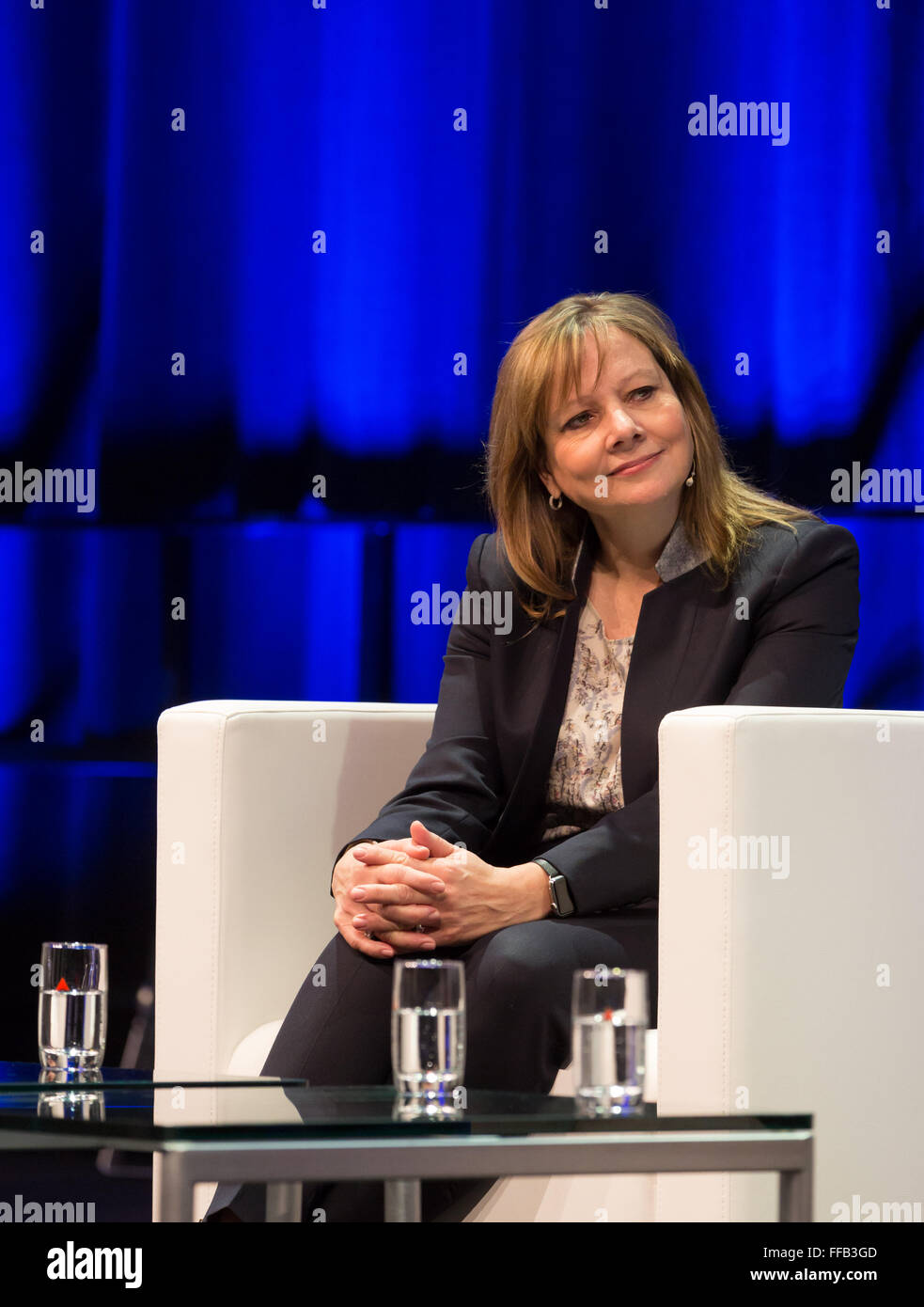 Bochum, Germany. 11th February, 2016. Mary Barra, CEO General Motors, CAR symposium, automotive experts meeting, - Stock Image