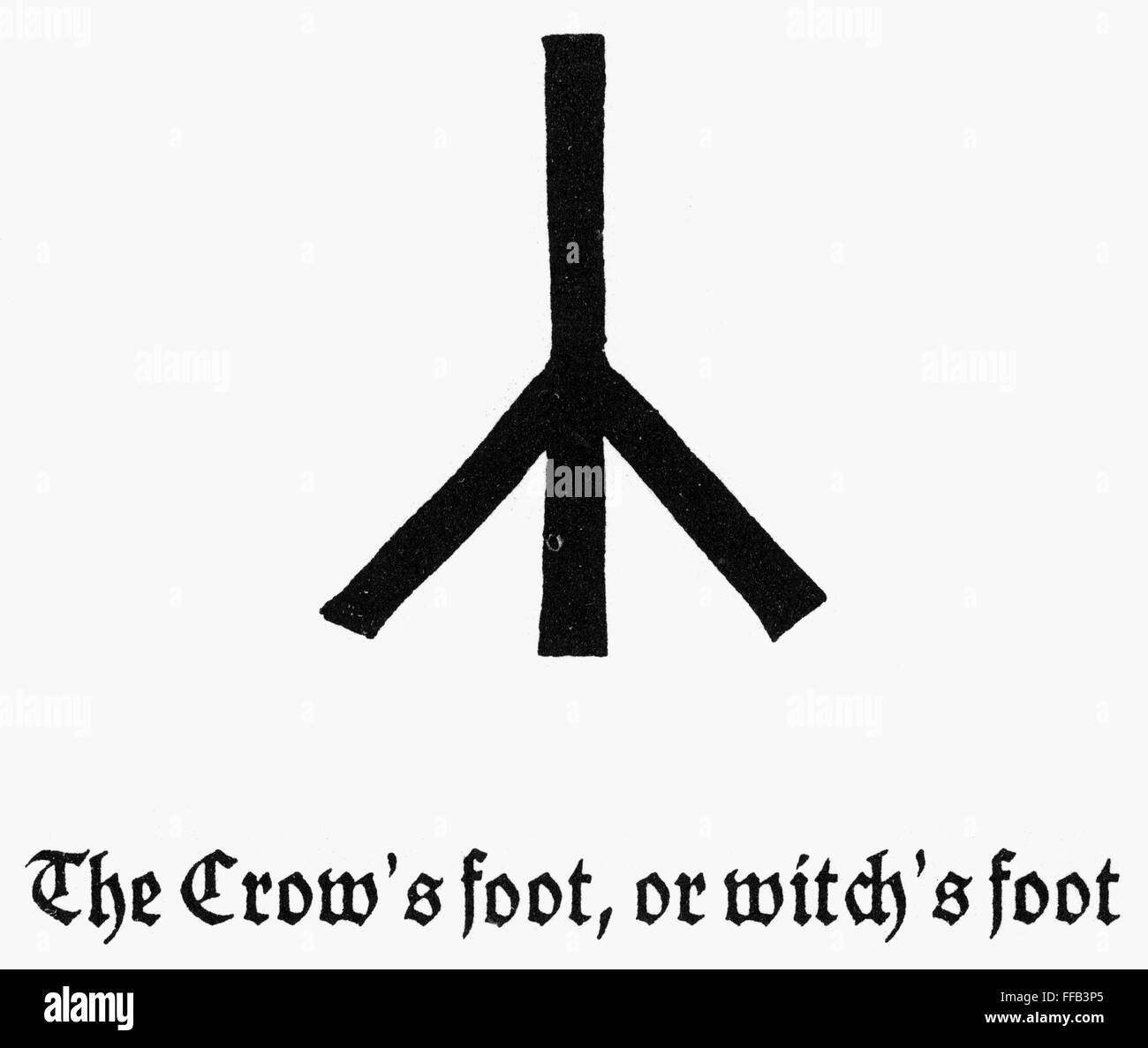 Symbols Crows Foot Ncrows Foot Or Witchs Foot German Stock