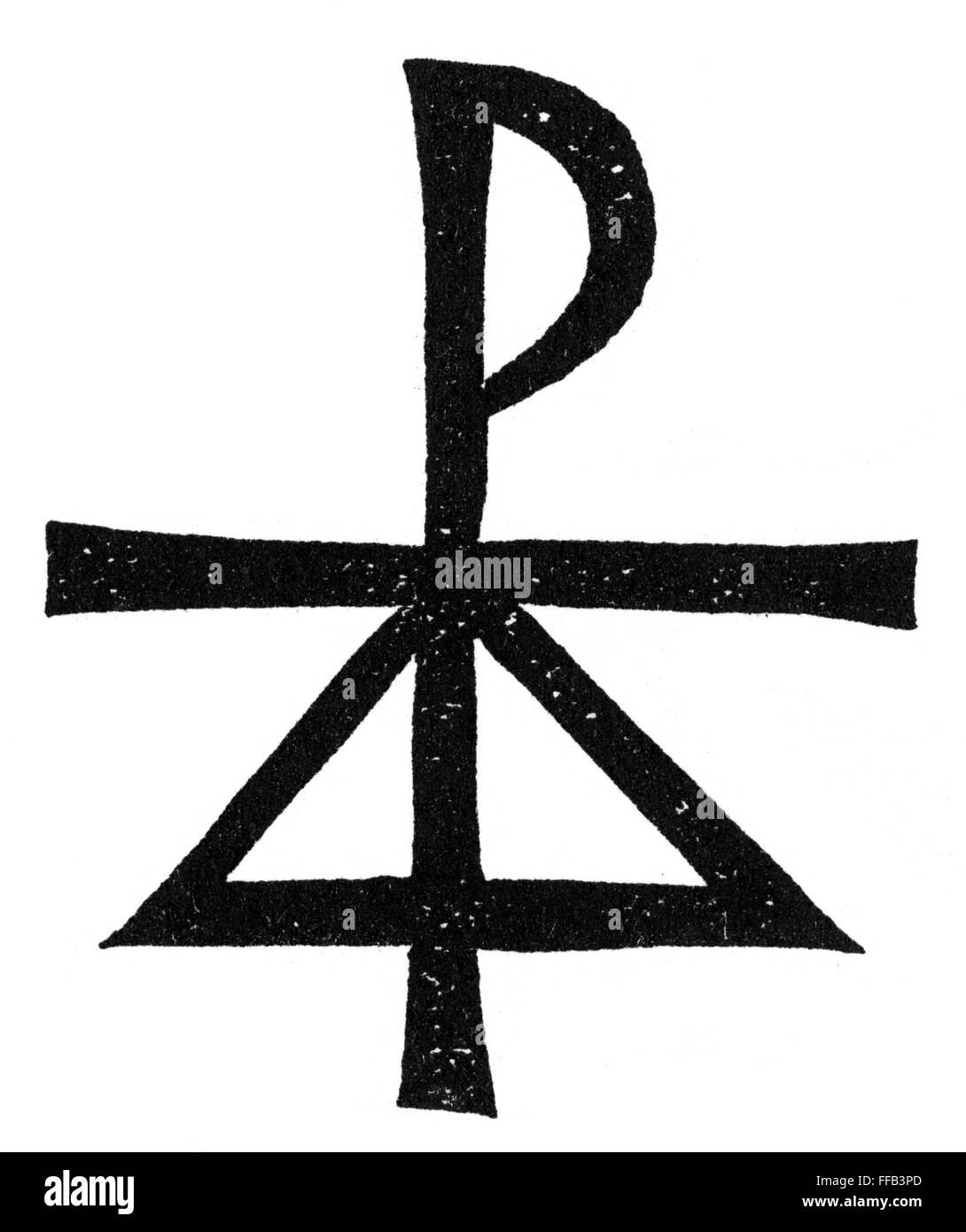 Symbols Holy Trinity Nwoodcut German Stock Photo 95516133 Alamy