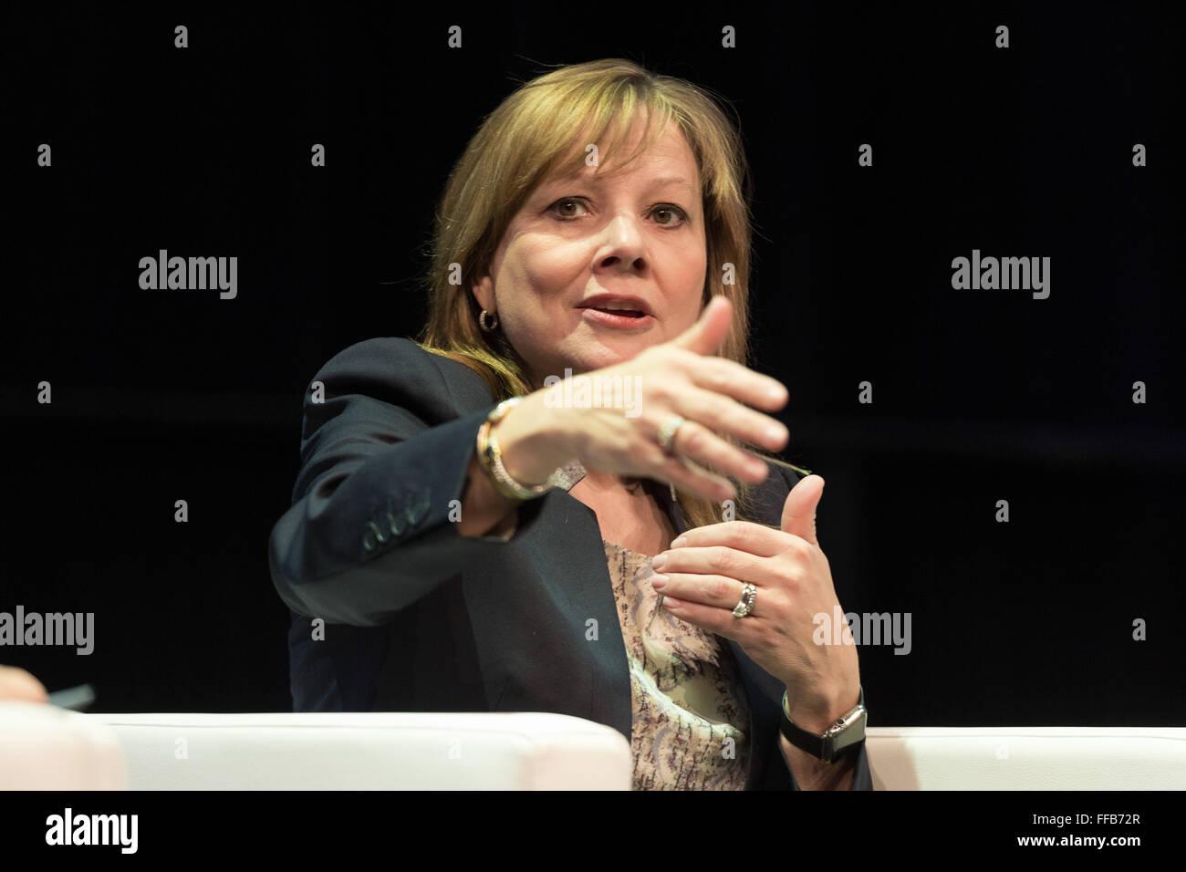 Bochum, Germany. 11th February, 2016. Mary Barra, CEO General Motors, CAR symposium, automotive experts meeting, - Stock Image
