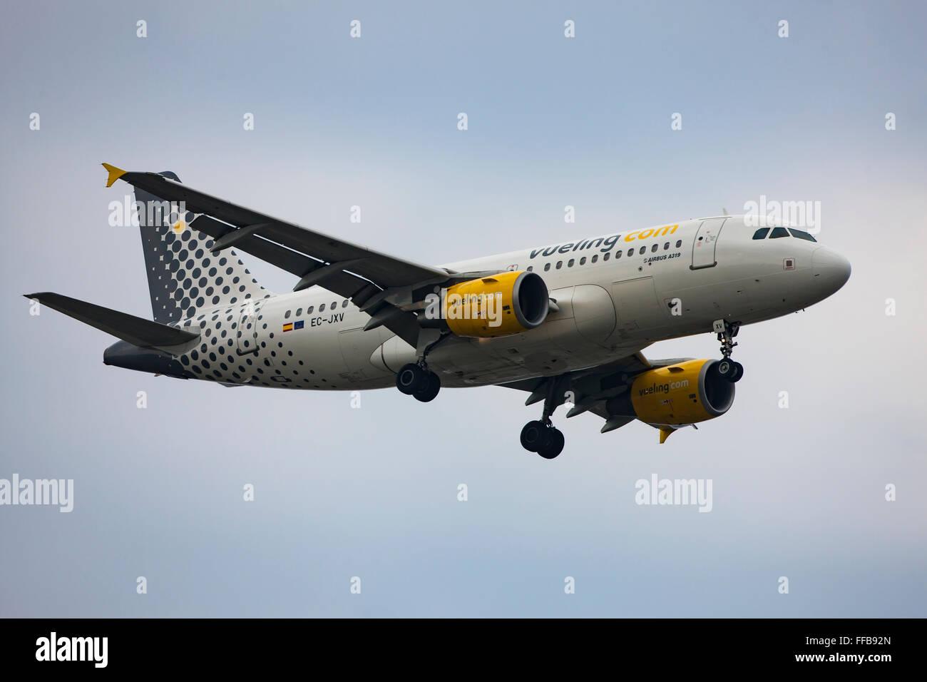 Vueling, airliner, in flight - Stock Image