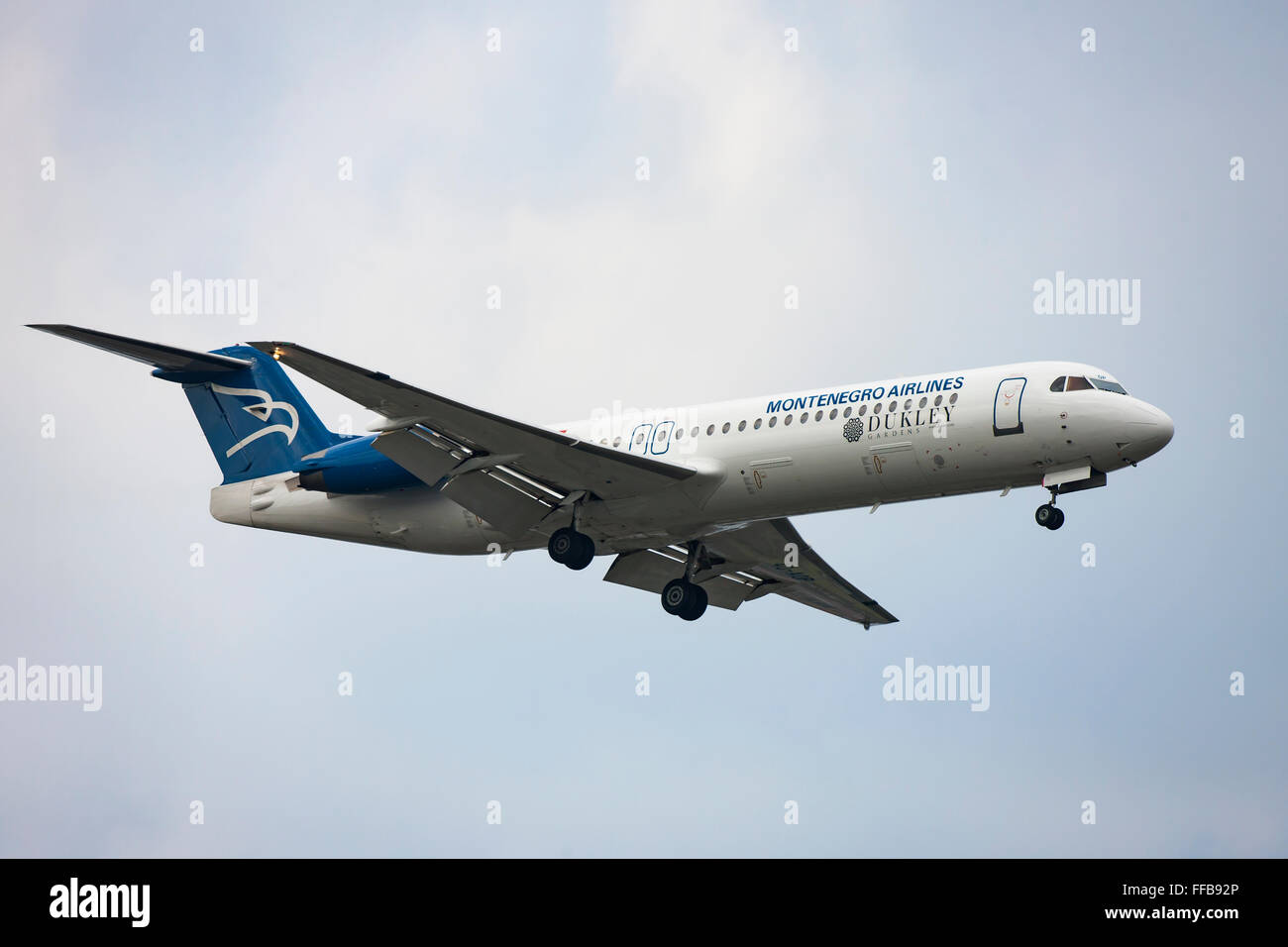 Montenegro Airlines, airliner, in flight Stock Photo