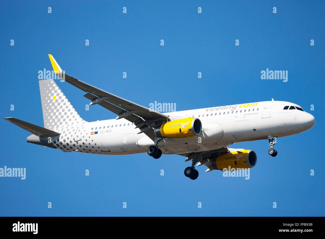 Vueling, airliner, in flight - Stock Image