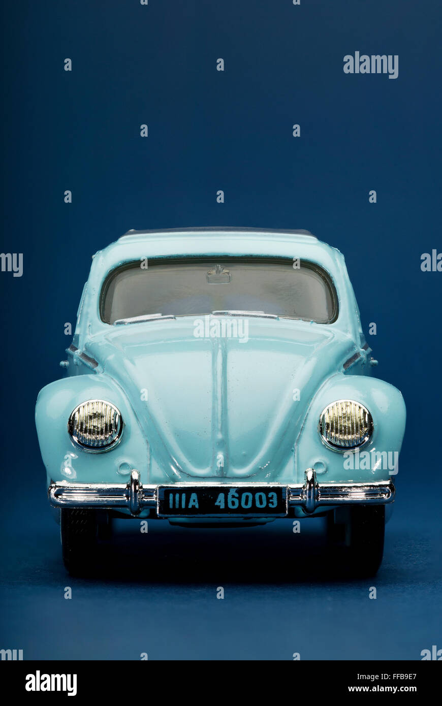 Volkswagen VW Beetle Dinky Toy diecast model car - Stock Image