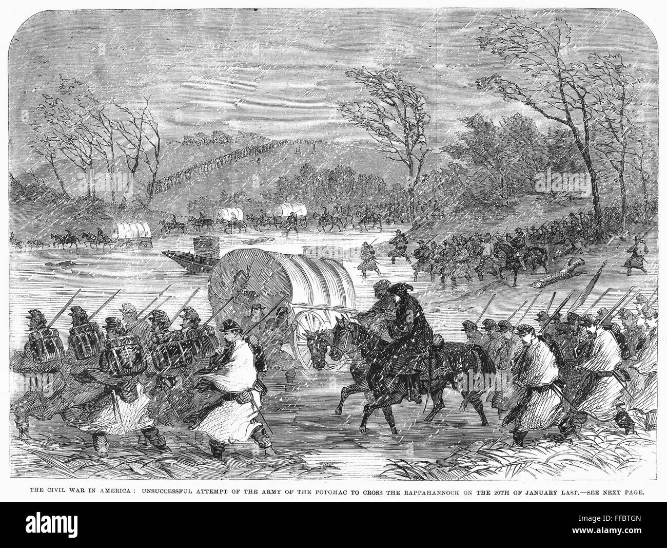 the details of the events of the crossing of the potomac army to rappahannock No details of burnside's plan were given, but clearly it would mean another crossing of the rappahannock and another battle at or near fredericksburg later generals franklin and smith would have difficulty recalling the purpose of newton's and cochrane's trip to the capital.