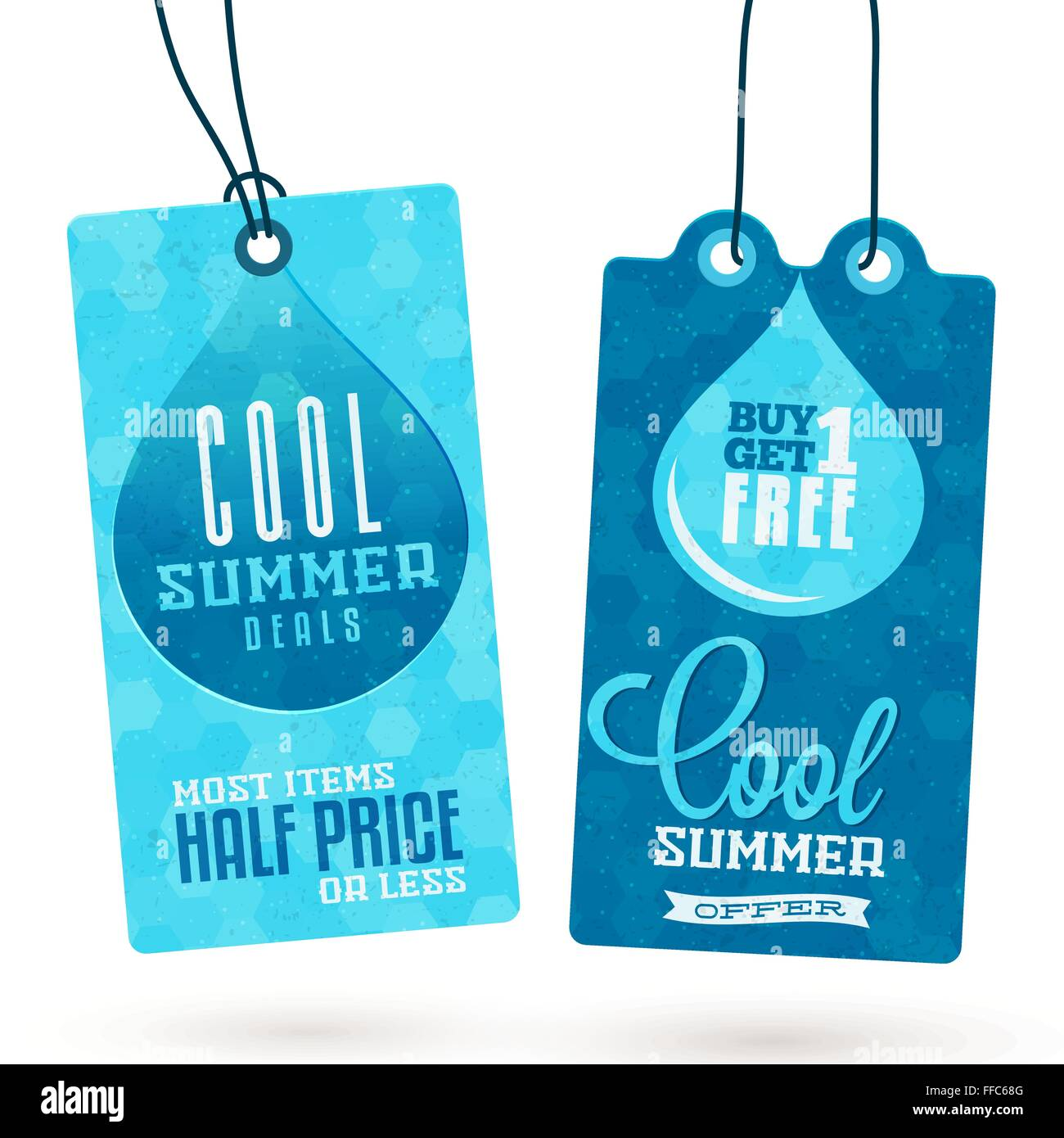 Collection of Vintage Summer Sales Related Hang Tags - Stock Image