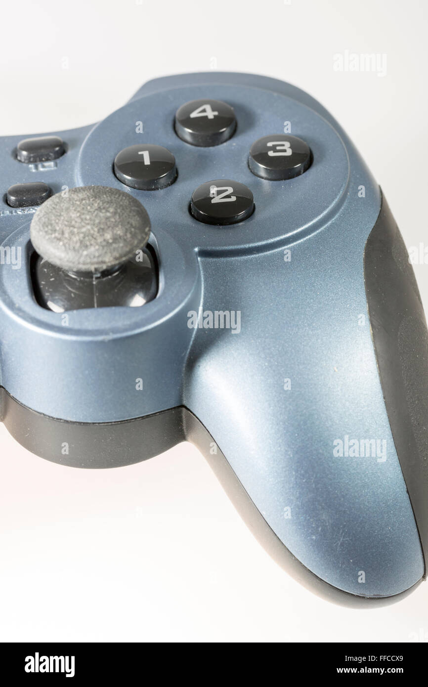 Video Game Controller buttons close up - Stock Image