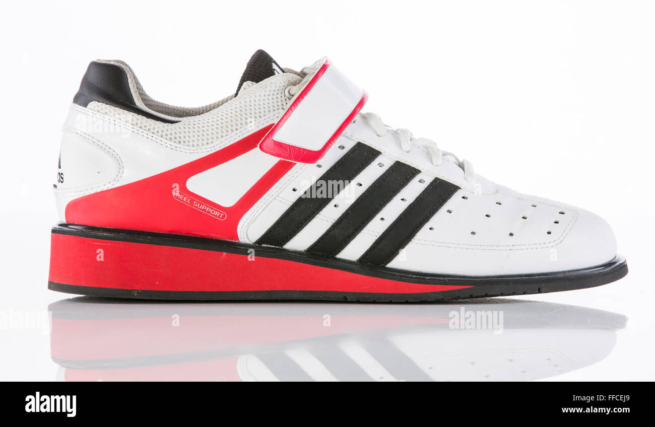 Edad adulta seda Centrar  Adidas Olympic weightlifting shoes on a white background with a Stock Photo  - Alamy