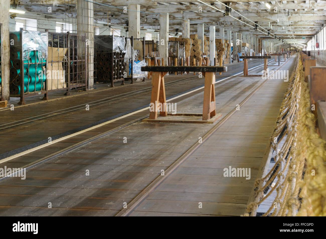 The rope walk, Chatham historic dockyard, Kent, England, UK - Stock Image