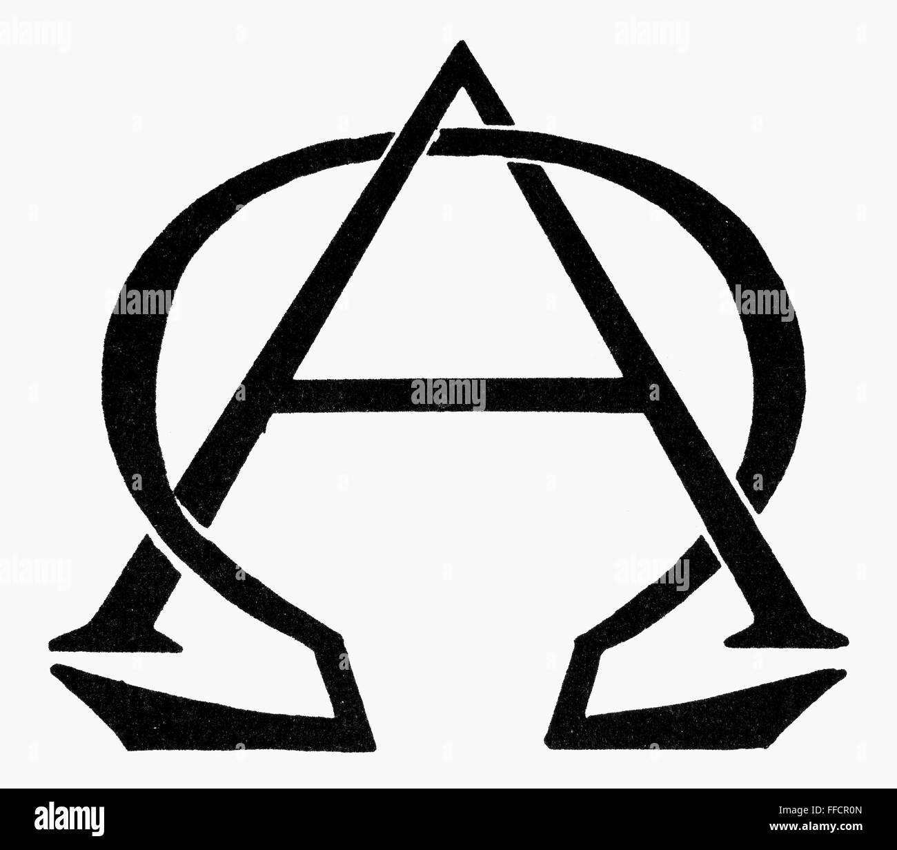 Symbol Beginning End Ngreek Letters Alpha And Omega Symbols