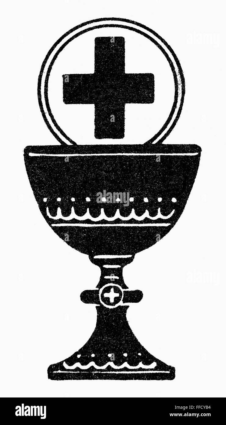 Chalice And Cross Nchristian Symbol Of The Last Supper And The