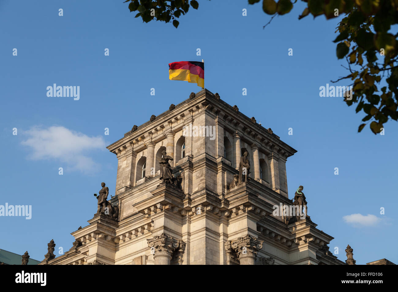 small tower of german parliament - Stock Image