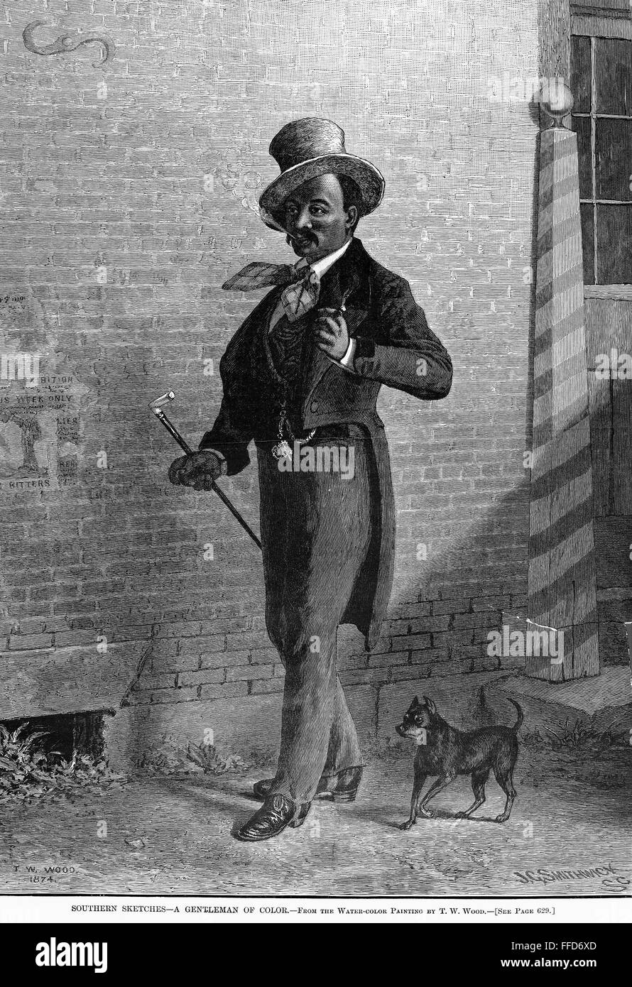 SOUTHERN SKETCHES NEGRO GENTLEMAN OF COLOR AND HIS DOG