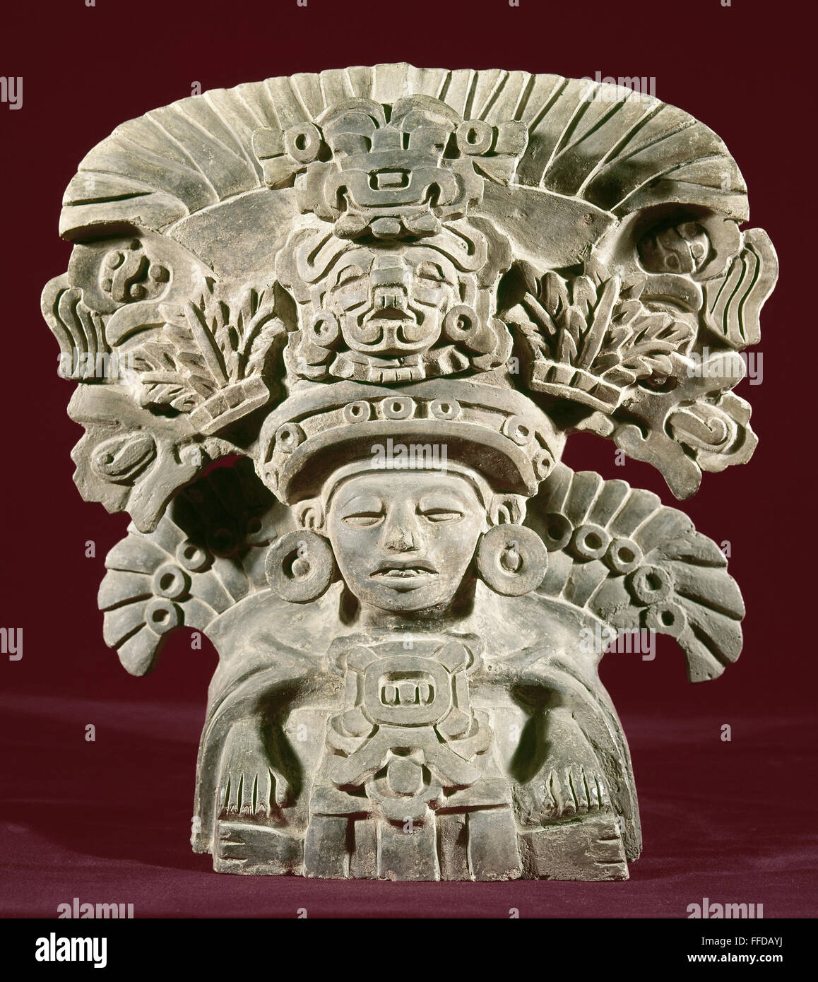 Mexico vegetation god nclay figure of the zapotec
