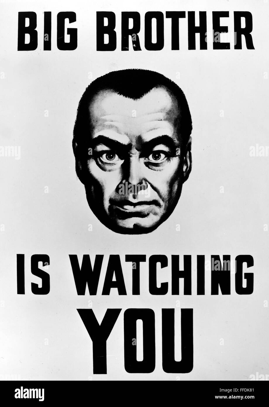 Orwell Big Brother Nstill From The 1956 Film Adaptation Of George